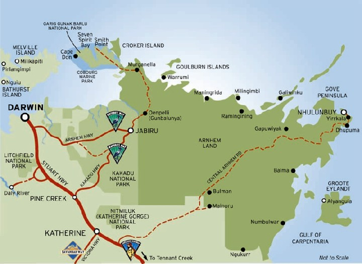 Map Of Australia Kakadu National Park.Maps Of Kakadu National Park Australia Maps Of Katherine Gorge